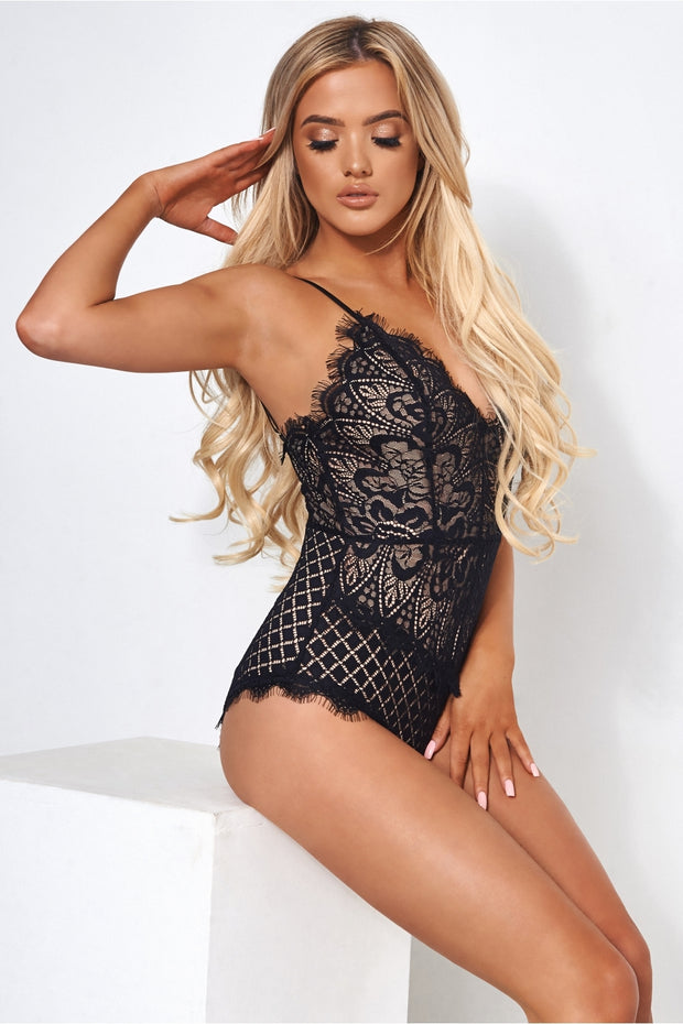 Anais Black Lace Bodysuit