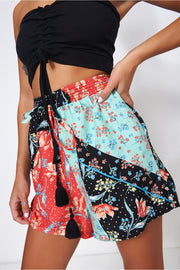 Bellini Patchwork Print Shorts