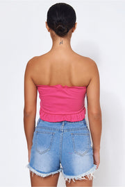 Carly Hot Pink Crop Top