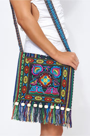 Indu Embroidered Boho Messenger Bag