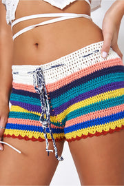 Kali Multicoloured Crochet Shorts