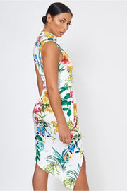 Lotus Floral Bodycon Dress