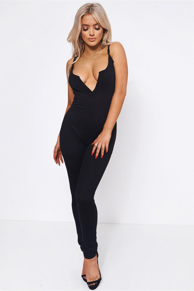 Basics Black Jersey Jumpsuit