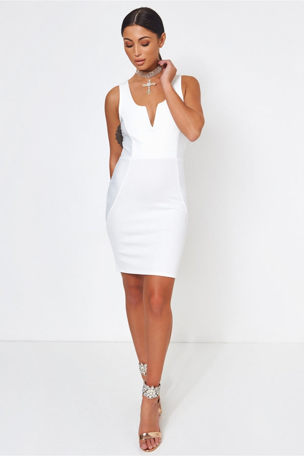 Saisha White Bodycon Dress