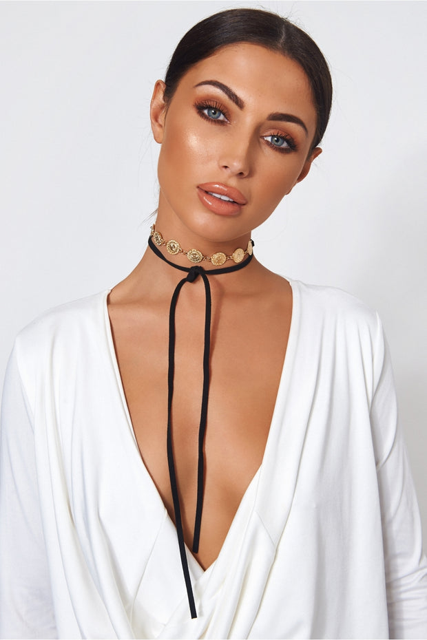 Isa Gold Coin Choker Necklace