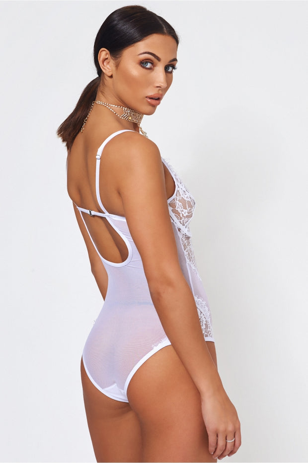 Anya Underwired White Lace Bodysuit