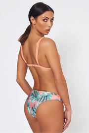 Capri Orange Palm Leaf Bikini