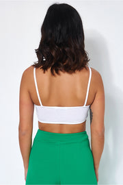 Sisi White Caged Bralet Top