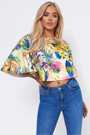 Luca Yellow Floral Top