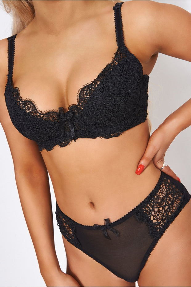 Kiki Black Lace Knicker Set
