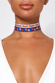 Sundance Double Flower Choker Necklace