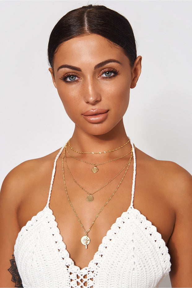 Tito Gold Cross Overlay Necklace
