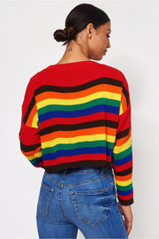 Multicoloured Rainbow Stripe Jumper