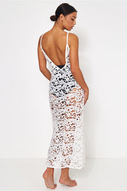 Ibiza White Crochet Maxi Dress