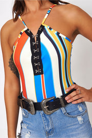 Zamira Rainbow Stripe Bodysuit