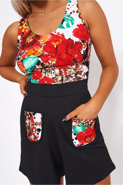 Anaya Floral Pocket Front Playsuit