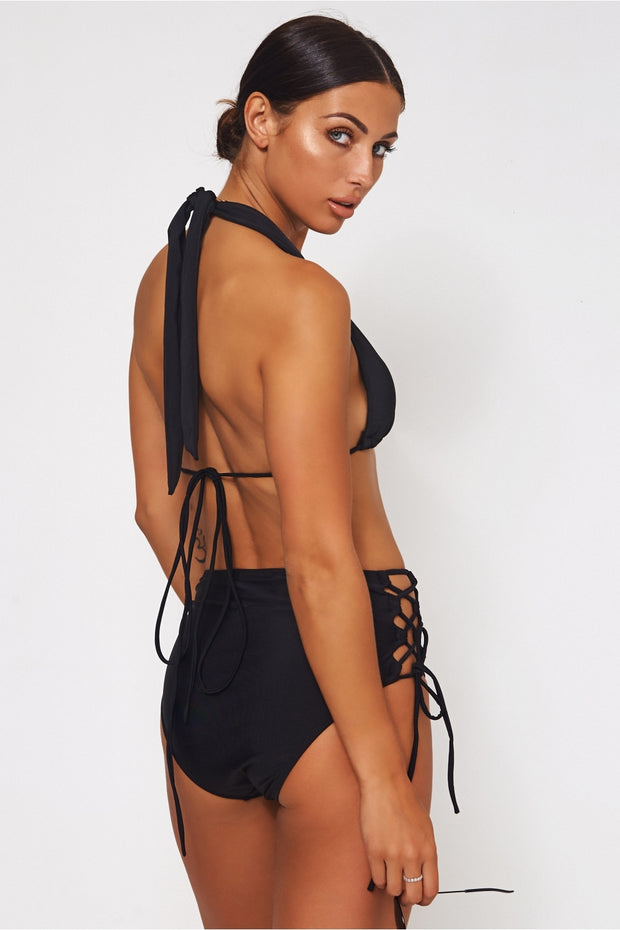 Chloe Black High Waisted Bikini