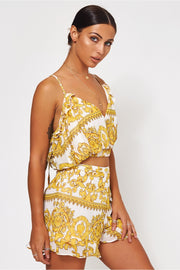 Firenza White & Gold Baroque Co-ord