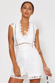 Pixie White Lace Playsuit