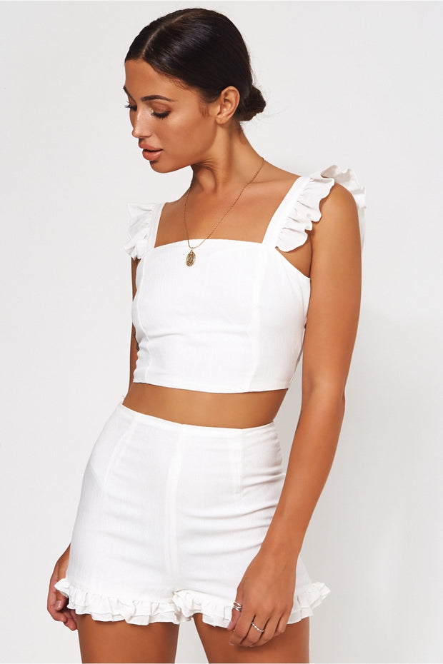 Anaya White Frill Co-Ord
