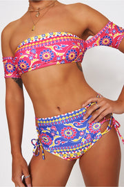Raina Aztec High Waisted Bardot Bikini