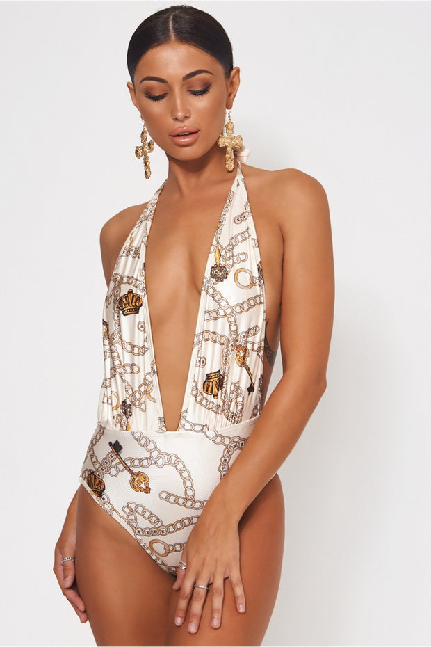 Limited Edition Chain Print Swimsuit