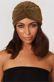 Gold Shimmer Twist Hat