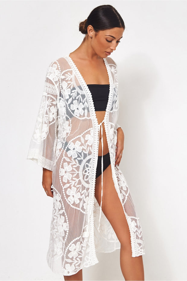 White Lace Kaftan