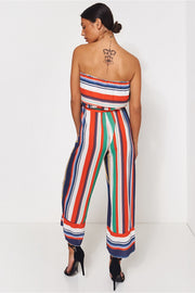 Jessica Green Stripe Jumpsuit
