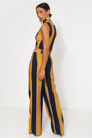 Lilly Mustard & Black Stripe Co-Ord