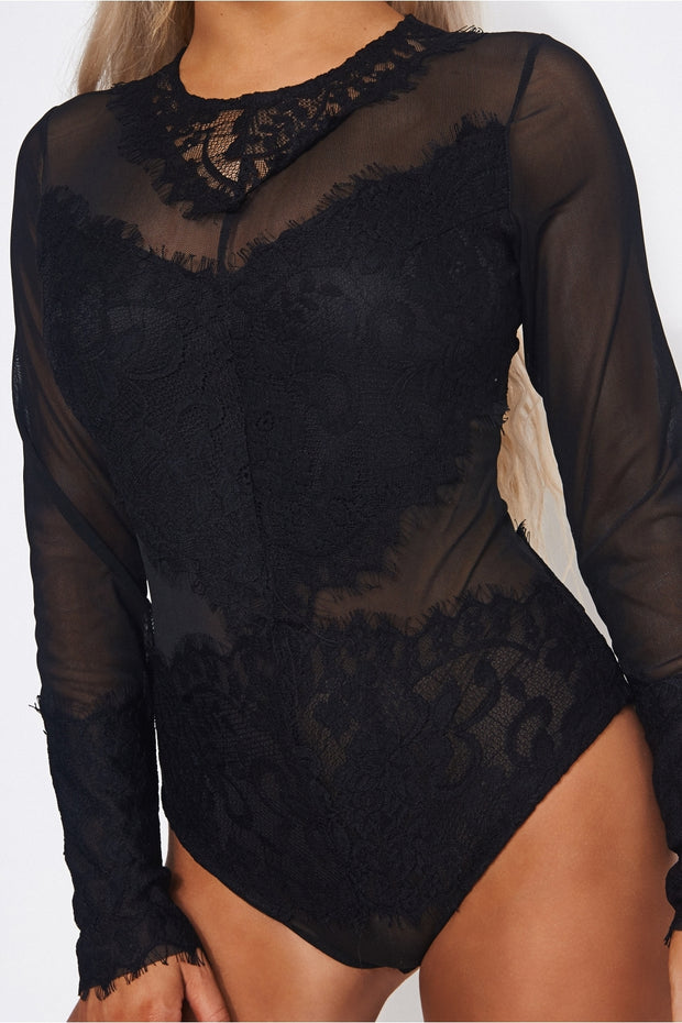 Amalfi Black Lace Bodysuit