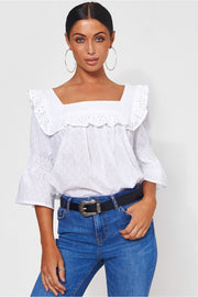 Giana Broderie Anglaise Top