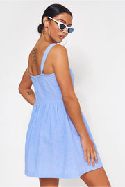 Blue Button Down Sundress