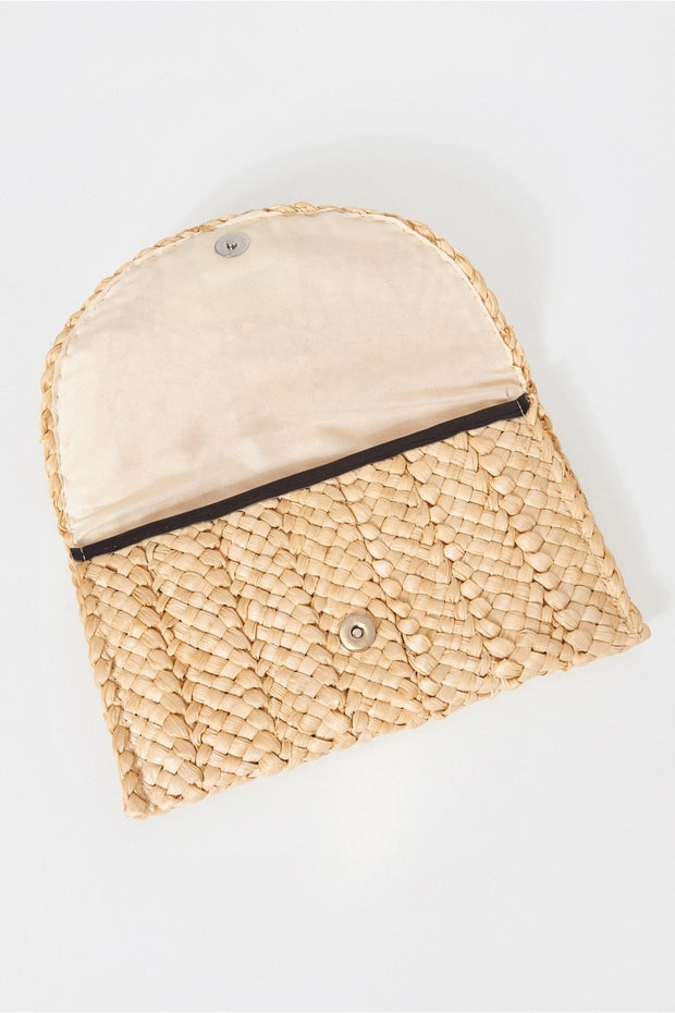 Mimi Straw Clutch Bag