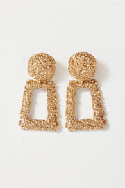 Geo Gold Statement Earrings