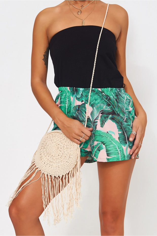 Round Tassel Straw Bag