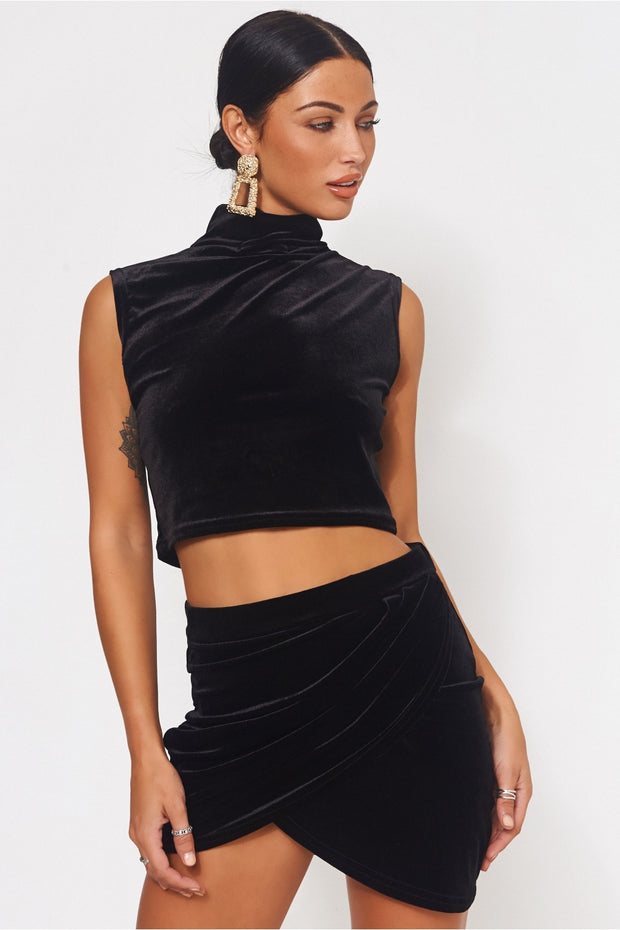 Tia Black Velvet Co-Ord