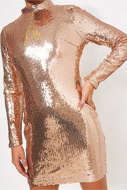 Lola Rose Gold Sequin Bodycon Mini Dress