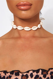 White Sea Shell Choker Necklace