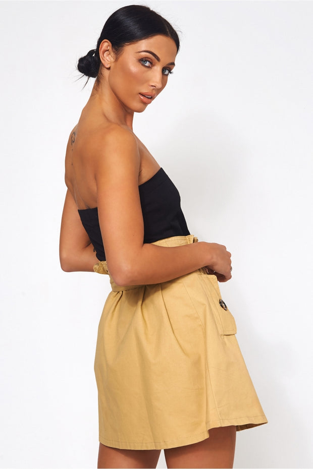 Limited Edition Sand Button Midi Skirt