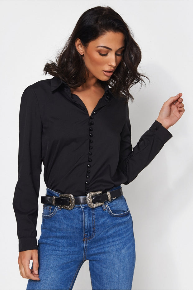 Solo Black Button Up Shirt