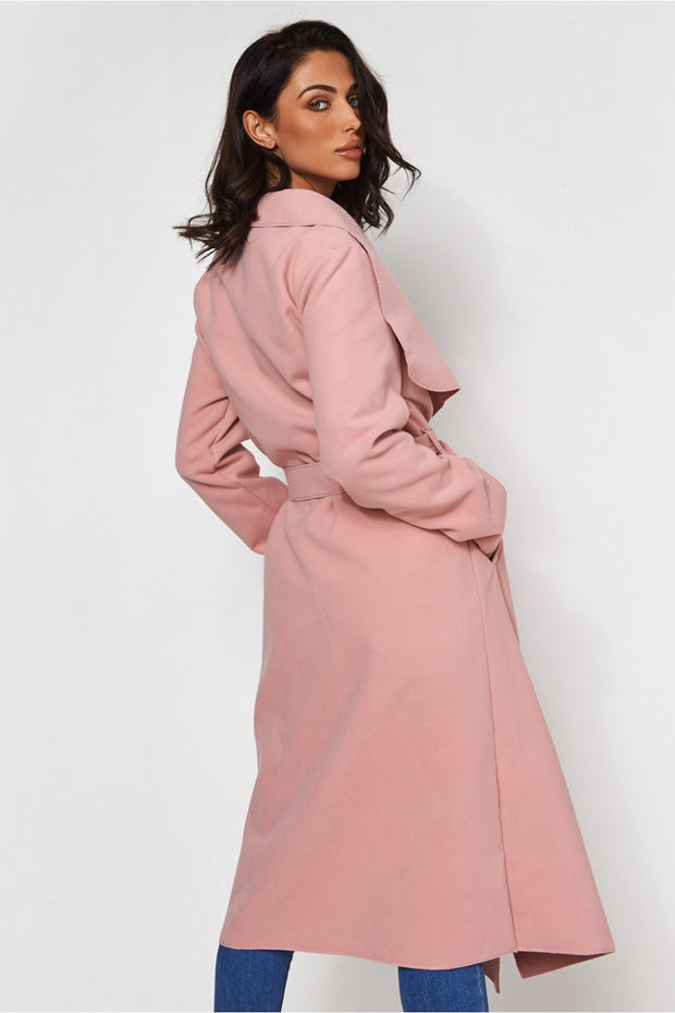 Khloe Pink Waterfall Coat