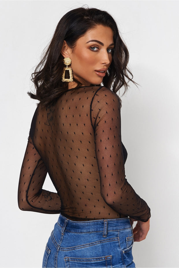 Coco Black Lace Bodysuit