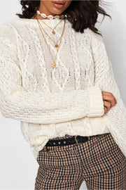 White Cable Knit Jumper