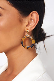 Klara Round Tortoiseshell Earrings