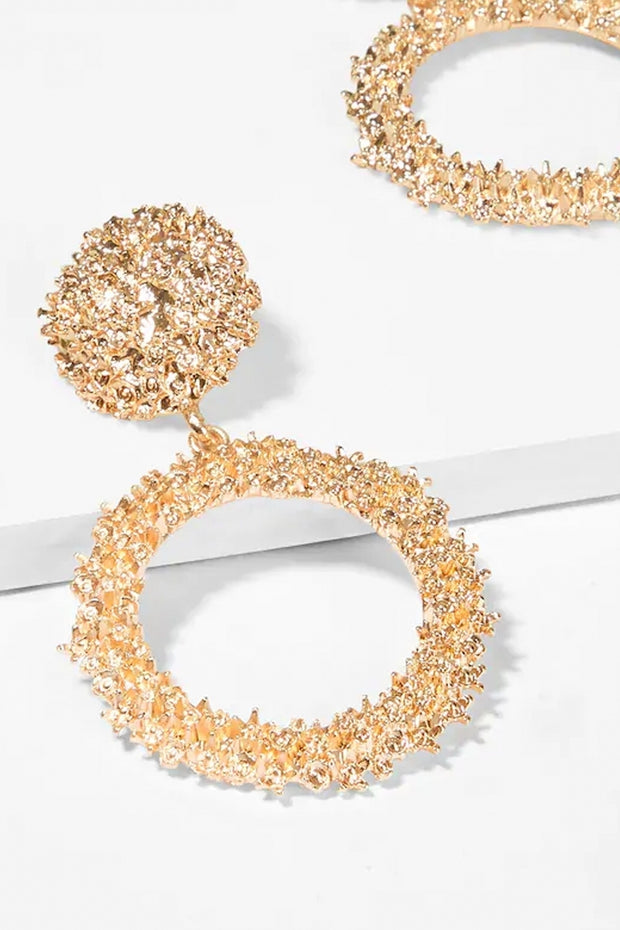 Alia Gold Circle Statement Earrings