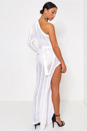 Shalini White One Shoulder Maxi Dress