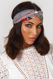 Laka Red Floral Print Headband