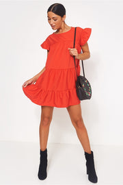 Luca Petite Red Smock Dress