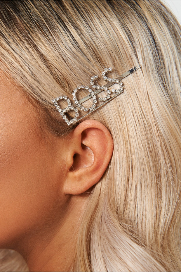 Boss Diamante Hair Slide
